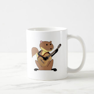 Squirrel Playing the Guitar Classic White Coffee Mug