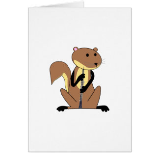 Squirrel Playing the Oboe Card