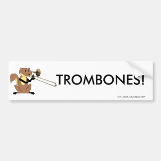 Squirrel Playing the Trombone Bumper Sticker