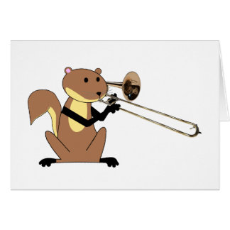 Squirrel Playing the Trombone Card