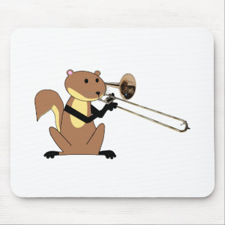 Squirrel Playing the Trombone Mouse Pad