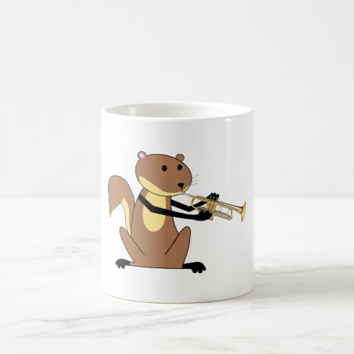 Squirrel Playing the Trumpet Classic White Coffee Mug