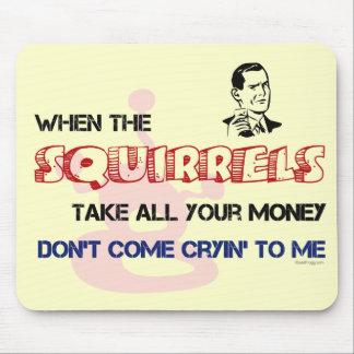 Squirrel Poker Mousepad