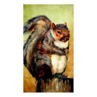 Squirrel Portrait Business Cards