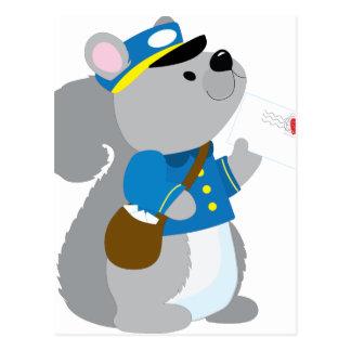 Squirrel Postman Postcard