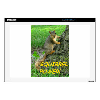 """Squirrel Power! 17"""" Laptop Decals"""