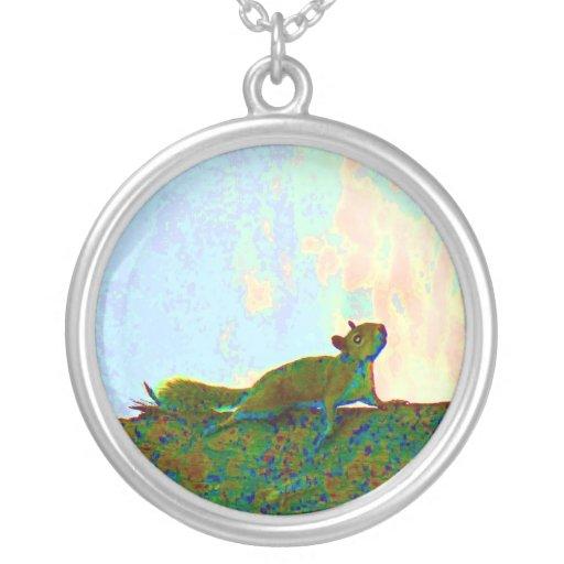 squirrel psychadelic photo necklaces