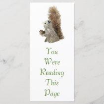Squirrel Puppet Bookmark Template