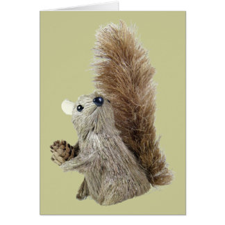 Squirrel Puppet Thank You Card Template