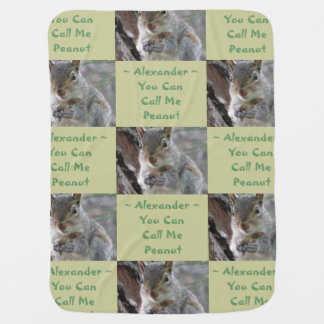 Squirrel Quilt Squares Call Me Peanut Baby Blankie Swaddle Blankets