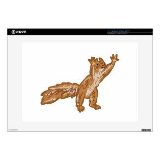 """squirrel reaching 15"""" laptop skin"""