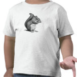 SQUIRREL: Realistic Pencil Drawing: Furry, Cute Tee Shirts