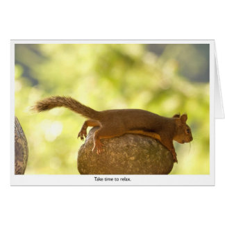 Squirrel Relaxing Card