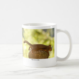 Squirrel Relaxing Coffee Mug