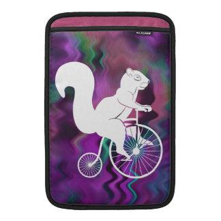 Squirrel Rider on Old Bike MacBook Air Sleeve