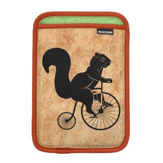 Squirrel Rider on Old Bike Sleeve For iPad Mini