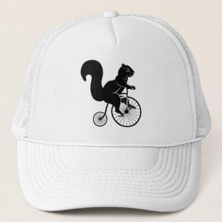 Squirrel Rider on Old Bike Trucker Hat