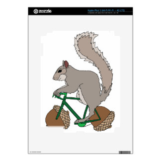 Squirrel Riding Bike With Acorn Wheels Decal For iPad 3