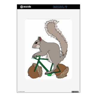 Squirrel Riding Bike With Acorn Wheels Skin For The iPad