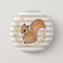 Squirrel Round Button