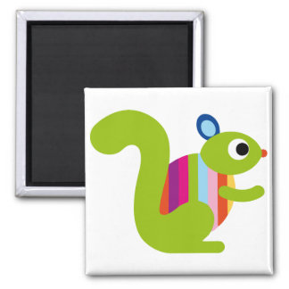 Squirrel Sciuridae Chipmunks Marmots Cute Cartoon Magnets