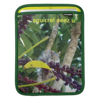 Squirrel Seez U iPad Sleeve