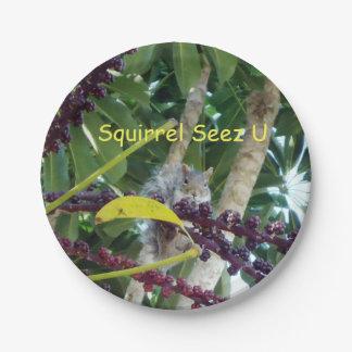 Squirrel Seez U Paper Plate