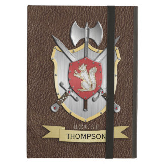 Squirrel Sigil Battle Crest Brown Cover For iPad Air