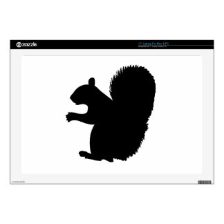"""Squirrel Silhouette 17"""" Laptop Decal"""