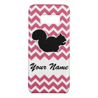 Squirrel Silhouette with Pink Chevron Pattern Case-Mate Samsung Galaxy S8 Case
