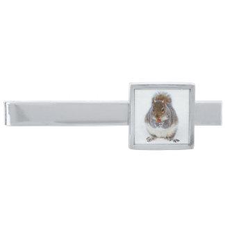 Squirrel Silver Finish Tie Bar