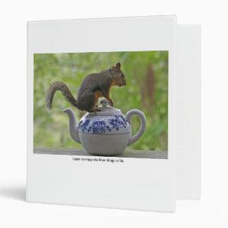 Squirrel Sitting on a Teapot 3 Ring Binder