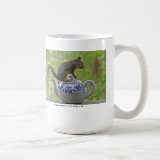 Squirrel Sitting on a Teapot Coffee Mug