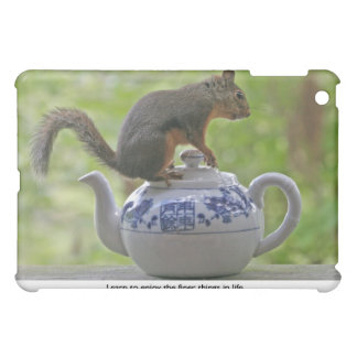 Squirrel Sitting on a Teapot Cover For The iPad Mini