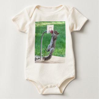 Squirrel Slam Dunk Baby Bodysuit