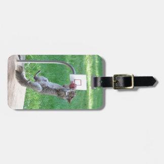Squirrel Slam Dunk Bag Tag