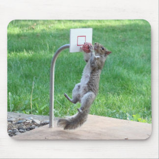 Squirrel Slam Dunk Mouse Pad