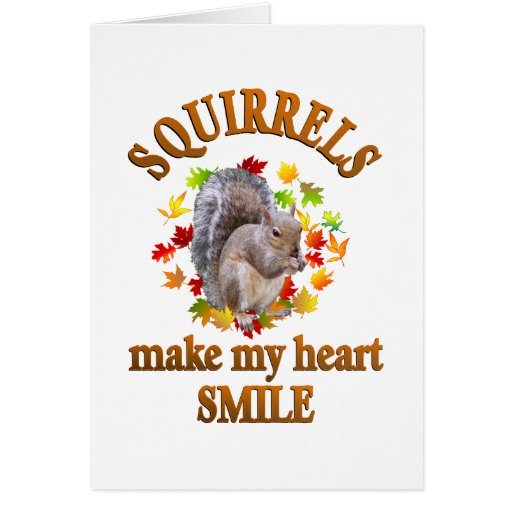 SQUIRREL SMILES GREETING CARDS