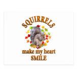 SQUIRREL SMILES POSTCARDS