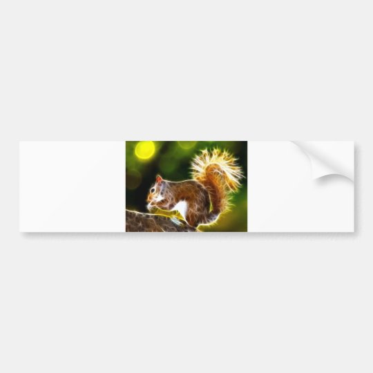 Squirrel Snack Time Bumper Sticker