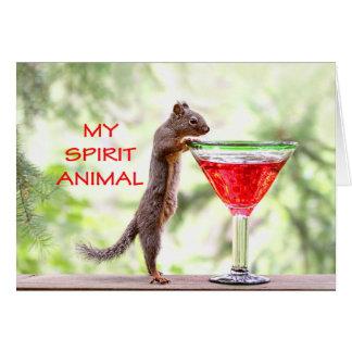 Squirrel Spirit Animal Card
