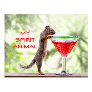 Squirrel Spirit Animal Postcard