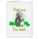 Squirrel St. Patricks Day Greeting Card