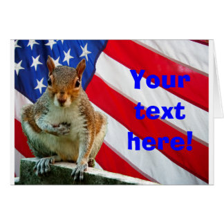 Squirrel, Stars and Stripes Card