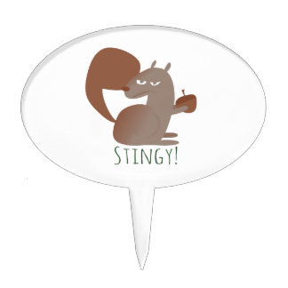 Squirrel Stingy Cake Toppers