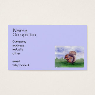 Squirrel Study Business Card