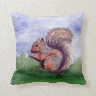 Squirrel Study Throw Pillow