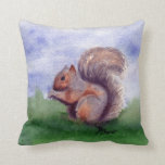 Squirrel Study Throw Pillows