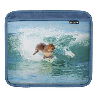 Squirrel Surfer On The Sea iPad Sleeve