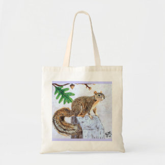 Squirrel Taunts Canvas Bags